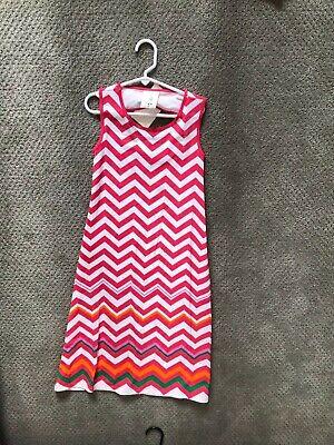 NEW Ella and Lulu Hot Pink & White Zig Zag Pattern Long Dress in Girls 12 (Hot Girls In Dresses)
