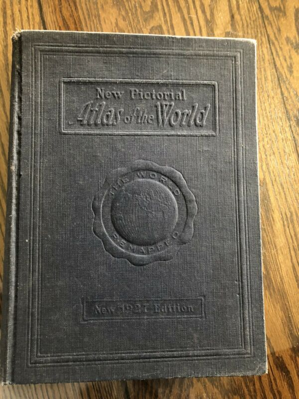 NEW PICTORIAL ATLAS OF THE WORLD 1927 EDITION ---THE WORLD REMAPPED