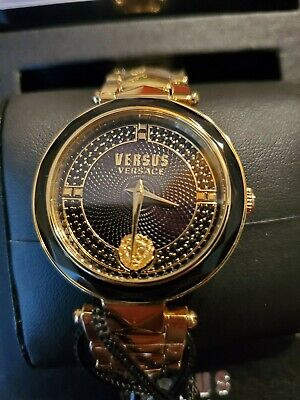 Versus by Versace VSPCD2617 Covent Garden black gold Steel Women's Watch NEW