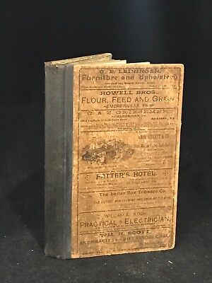 1891 PA Railroad Map and Business Directory, used for sale  Harrisburg