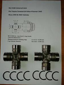 RUJ-2100 UNIVERSAL JOINT  TOYOTA HiLux 2/4WD 4RUNNER COMMERCIAL St Albans Brimbank Area Preview