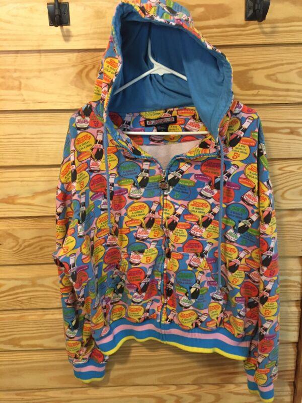 5 CENT Pepsi Cola Hooded Full Zip Sweatshirt Hoodie Size MEDIUM,PEPSI ZIP jacket