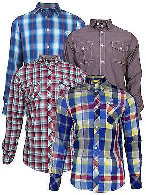 Drucken Regular Fit Hemd (Herren Ben Sherman Mod Regular Fit Hemd lange Ärmel überprüfen Streifendruck)