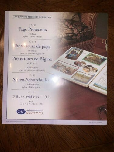 NIP Retired Creative Memories 12x12 page protectors Original size Multiples avai