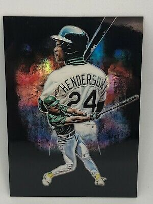 RICKEY HENDERSON 2019 Panini Prizm PROFILES SSP Short Print #P12 CASE HIT!