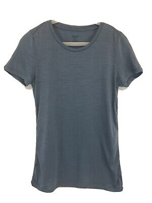 Icebreaker Sz XS Blue T Shirt Short Sleeve Merino Wool Blend Tee