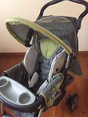 Baby Stroller Chicco Cortina Travel System Stroller Gray/GreenLOCAL PICK UP ONLY & USED Chicco Cortina Stroller Canopy REPLACEMENT holder bracket support