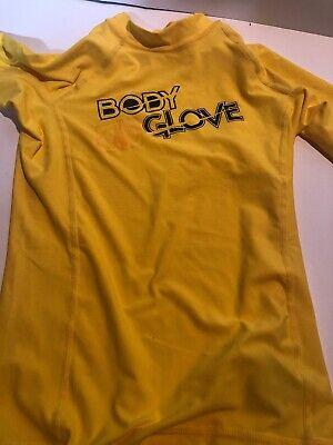 Body Glove Short Sleeve Shirt (Boys Youth Body Glove Short Sleeve Shirt Yellow Surfing Rash Guard Nylon Size 8 )