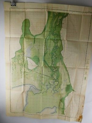 Color Underground Water Map Utah Bear River Sheet 1904