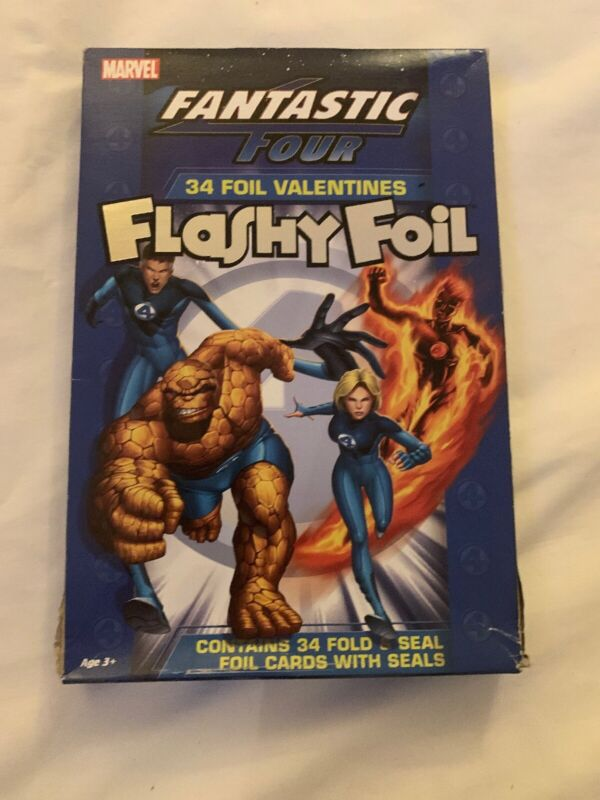 2005 Marvel Fantastic Four Flashy Foil Valentine Day Cards