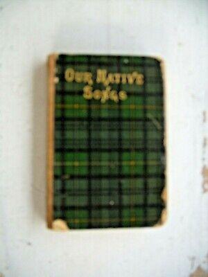 OUR NATIVE SONGS Choice Scottish Lyrics WILLIAM MOODIE Tartan ware Small Book