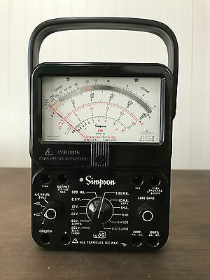 Simpson 260 Series 8p Overload Protection Multimeter Volt-ohm Used
