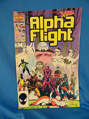 Alpha flight comic book #33 Marvel 1986 Mignola art 1st Lady deathstrike appear.
