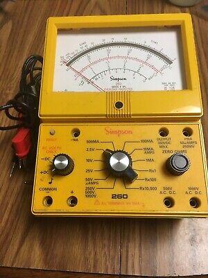 Simpson Volt-ohm Meter260 Series 8xpi With Case.