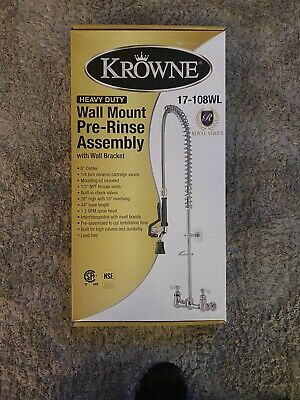 Pre-rinse Unit 8 Centers Spring Action 1.2 Gpm Head Krowne Metal 17-108wl