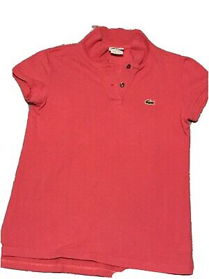 lacoste womens polo shirt size 38