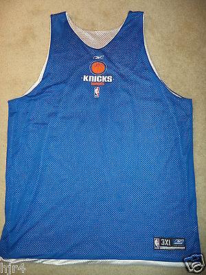 c4e76b459bd New York Knicks #51 NBA Reebok Game Worn Practice Basketball Jersey 3XL