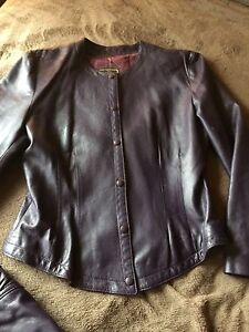 Leather pants and leather jackets - ladies