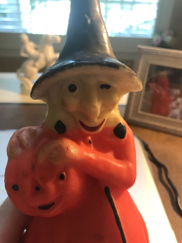 Vintage Halloween Large Gurley Witch JOL Candle-Unlit!