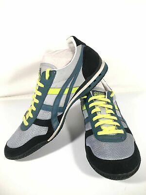 Asics Onitsuka Tiger Ultima 81 HN201 Blue Neon Green Highlight Sneakers Mens 11