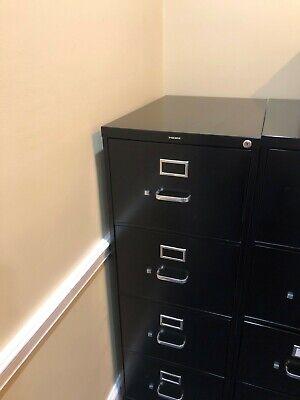 Hon 510 Series 4-drawer Vertical File Cabinet Letter Black 25 Deep