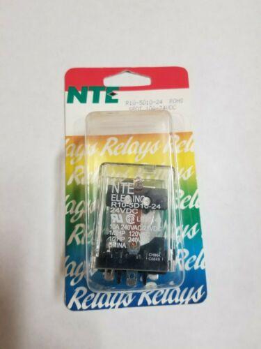 NTE R10-5D10-24 SPDT 24 Volt DC Coil 10 Amp General Purpose Relay 10A