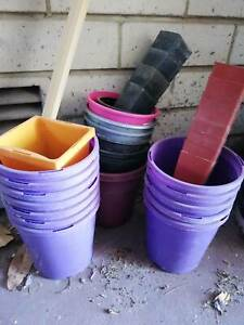 Plastic plant pots various small sizes