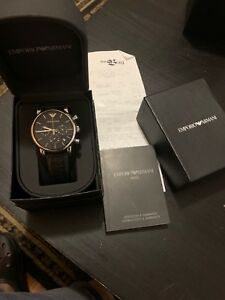 Emporio armani dress watch worth $259.34 with bill and  box