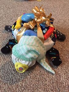 Sleeping baby diaper turtle baby shower gift! New Arrival! $20