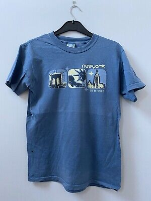 Ultra Cotton, Blue, T Shirt, Small, (New York Graphic)