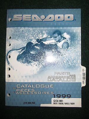 1999 Bombardier Sea Doo Parts Accessories Catalog Directions GSX RFI 5637 5638 5652+