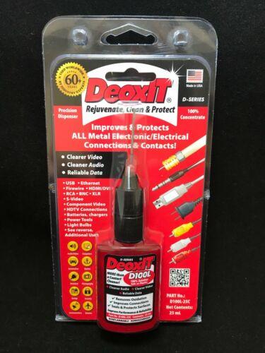 1x Caig D100L-25C DeoxIT® Needle Dispenser - 25mL - 100% Solution - New!