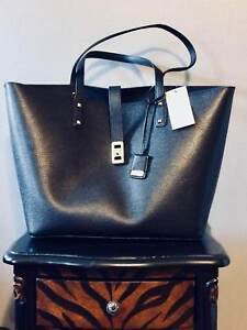 Michael Kors Karson Large Tote Carryall Leather Bag Black 35t8gkrt3l