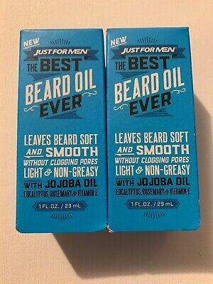 Lot Of 2 Just For Men THE BEST BEARD OIL EVER Light & Non-Greasy