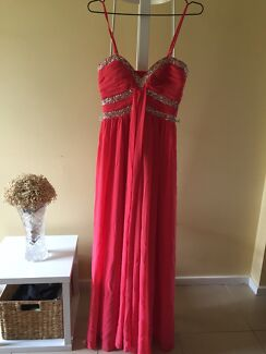 Full Length - Coral Gown - size M St Andrews Campbelltown Area Preview