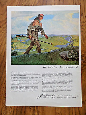 1953 John Hancock Life Insurance Ad Daniel Boone 1953 IBM Electric Typewriter Ad