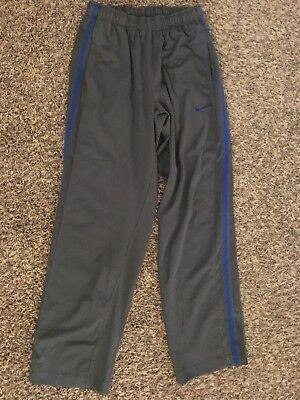 Nike Athletic Track Pants - Men's Nike Athletic Track Pants Royal Blue Grey S Drawstring Pockets NEW