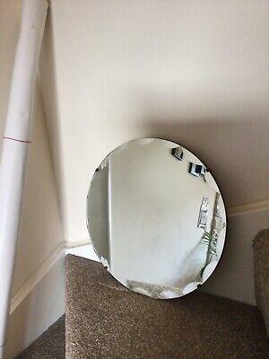 vintage mirror with chain Round
