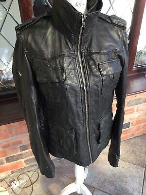 Super dry Men's Leather Biker Jacket