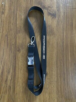 Porsche Motorsport Black Lanyard New
