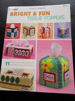 Bright & Fun Tissue Toppers Plastic Canvas Book  ~ The Needlecraft Shop