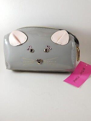 Betsey Johnson Mouse Face Cosmetic Makeup / Travel Bag.. New](Mouse Face Makeup)