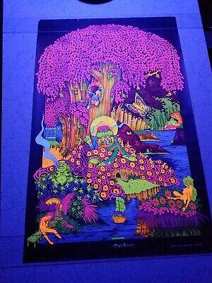 Vintage Blacklight hippie poster rare Magic Forest 1971 Saladin Petagno (Magic Vintage Poster)