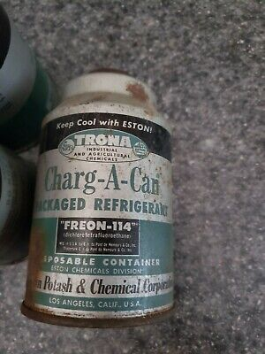 New Old Stock R114 114 Refrigerant Freon 1lb Containers