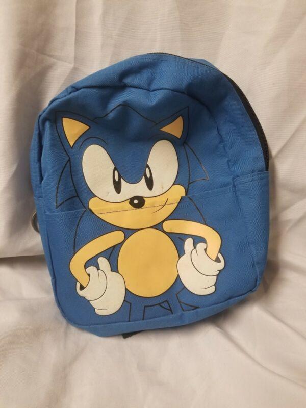 Vintage Sonic The Hedgehog Mini Backpack Blue Good Free Shipp