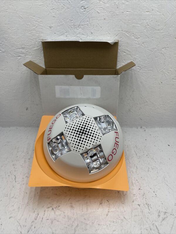 EDWARDS G4AVWF-SP White Wall Horn with LED Strobe Light