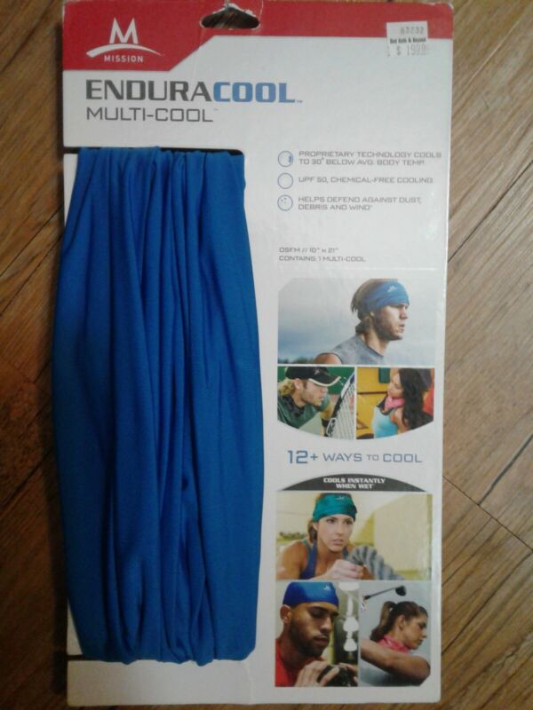 Mission Enduracool Multi-Cool Gaiter and Headwear , Blue , New