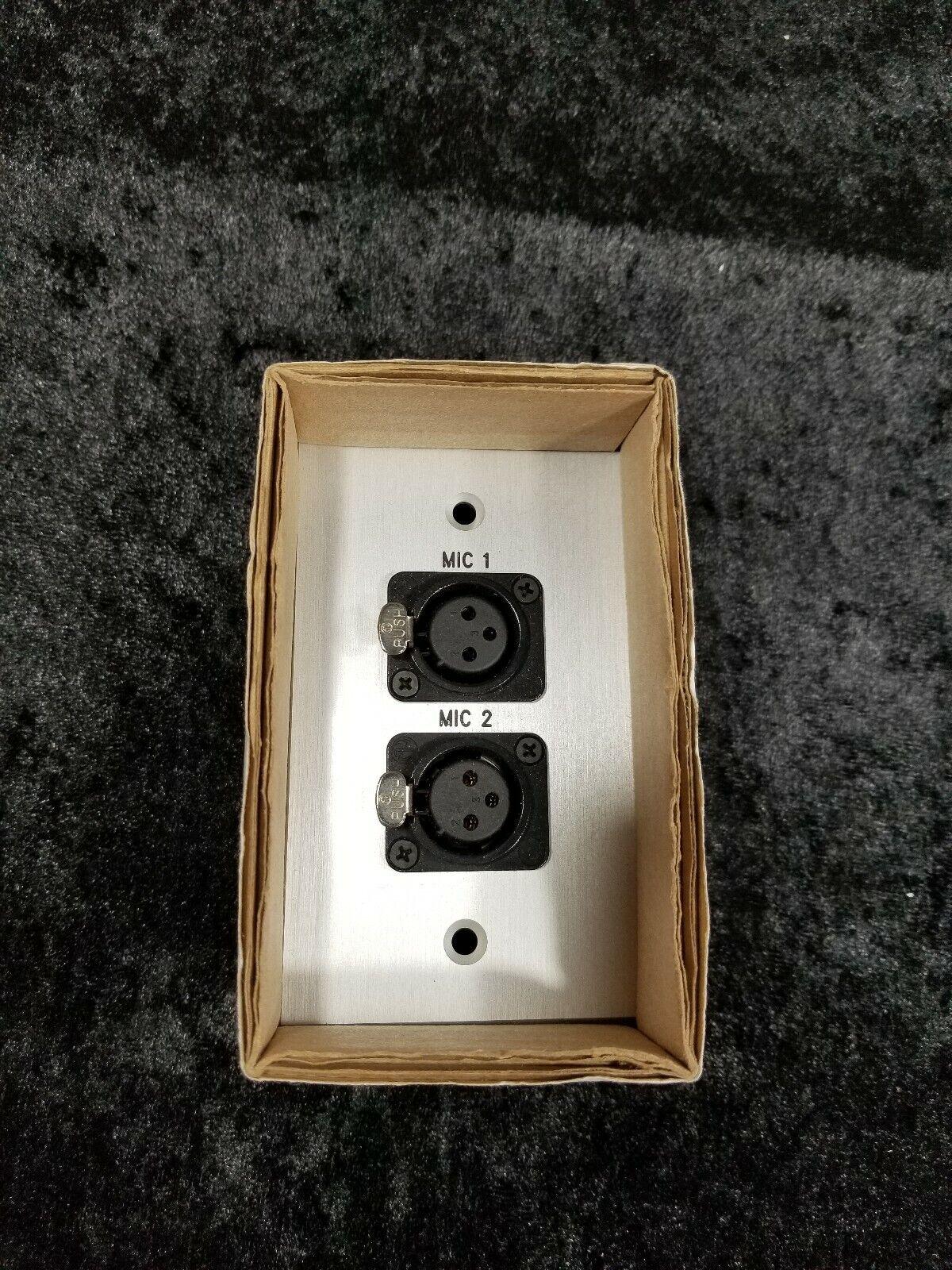 NEW Covid Black 1 Gang 3P XLR-f Microphone Mic 5 6 Wall Pass Through Faceplate