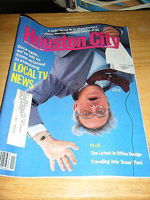 Vintage Houston City Magazine   Local Tv News Cover   November  1985