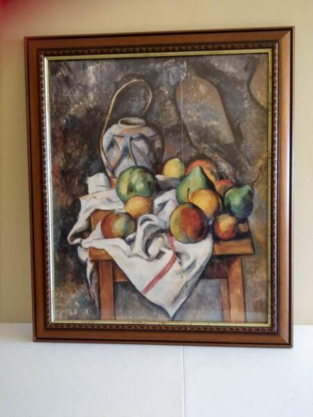 Paul Cezanne Le Vase Paille Cisas Fruit On The Cloth 40